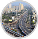 Links the two most crucial roads of Mumbai - Eastern Express Highway and Western Express Highway
